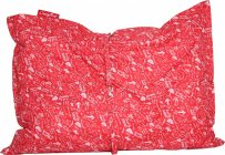 Sedací pytel CRAZYBAG outdoor s popruhy crazy red